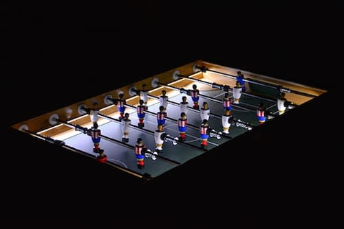 futbolin iluminado